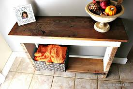 Barn Wood Sofa Table by Beyond The Picket Fence October 2014