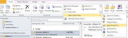 create a quick step in outlook it knowledge base confluence