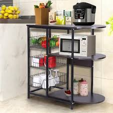 kitchen pantry storage cabinet microwave oven stand with storage kitchen baker s rack microwave oven stand workstation shelf