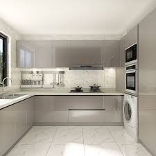 grey finish kitchen cabinets item oppein modern style grey lacquer 2 pac quality high gloss kitchen cabinets op18 l02