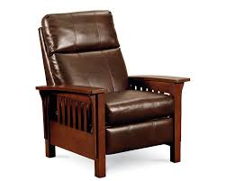 mission style leather sofa mission high leg recliner recliners lane furniture