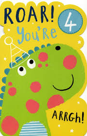boys happy 4th birthday greeting card with badge cards love kates