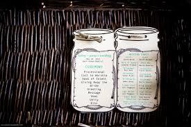 jar wedding programs kenny country rustic wedding borrowed blue