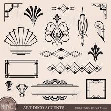 printable art deco borders variety of 16 different art deco design elements frames borders