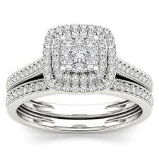wedding ring set for 10k bridal sets wedding ring sets for less overstock