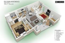 modren studio apartment plans 3d bedroom house floor to decorating