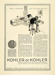 1923 ad kohler bathroom plumbing fixtures appliance children sink