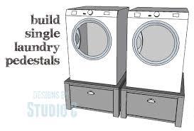 Build Washer Dryer Pedestal Easy To Build Single Laundry Pedestals U2013 Designs By Studio C