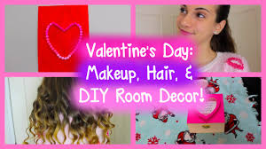 Bethany Mota Valentine S Day Decor by Valentine U0027s Day Diy Room Decor Makeup Hair Tutorial Youtube