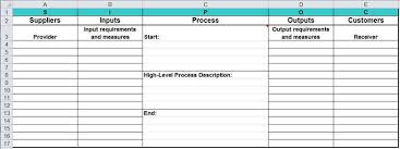 Sipoc Diagram In Excel Supplier Input Output Sipoc Template
