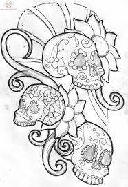 sugar skull drawing at getdrawings com free for personal