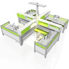 Contemporary Office Desk by Modular Office Furniture Workstations Cubicles Systems Modern