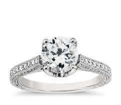 Platinum Wedding Rings by Monique Lhuillier Trio Cathedral Diamond Engagement Ring In