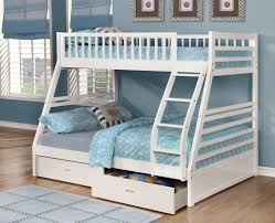 Twin Over Full Bunk Bed White Stair  Special Twin Over Full Bunk - White bunk beds twin over full with stairs