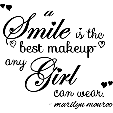 the best sticker citation smile is the best makeup marilyn
