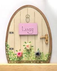 Tooth Fairy Gift Personalised Handpainted Fairy Door Pixie Tooth Fairy Gift