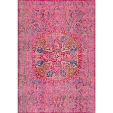Verona Rugs Nuloom Celina Floral Mandala Pink 5 Ft X 7 Ft 5 In Area Rug