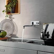 robinet cuisine mural robinet évier avec ressort en inox axor citterio espace aubade