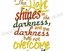 light in the darkness verse bible verse john etsy
