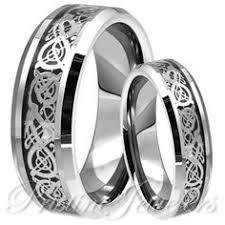 cincin tungsten carbide black titanium band stainless steel ring men woman hyper c