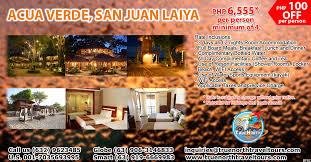acuaverde resort map acua verde san juan laiya true travel and tours