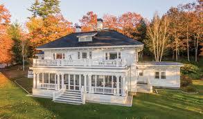 Neoclassical Home Grandeur On The Lake Maine Boats Homes U0026 Harbors