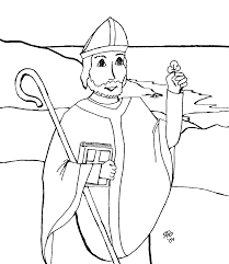 free coloring pages of st juan diego saint patrick coloring page