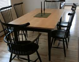 shaker style dining table handmade custom tiger maple shaker dining table from vermont