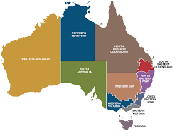 map of australia with cities and states map australian states 13 australia on of with territories and