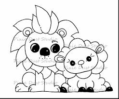 astonishing lion and lamb coloring pages with lamb coloring page
