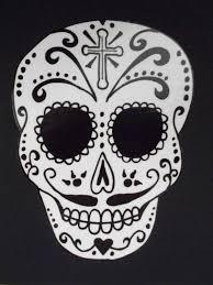 sugar skulls home decor day of the dead art catrin sugar skull car sticker 36 43