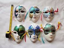 ceramic mardi gras masks clay venetian mardi gras resin decorative masks ebay