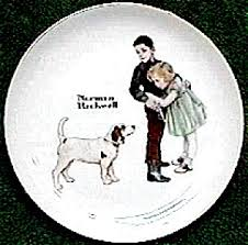 norman rockwell plate big norman rockwell at bothell