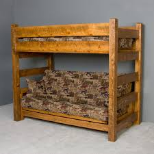timberwood barnwood twin over futon bunk bed by viking industries