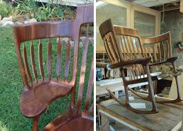 A Rocking Chair Father Of Three Builds A Triple Rocking Chair So All Of His Kids