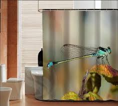 Dragonfly Shower Curtains Fashion Dragonfly High Quality Custom Shower Curtain Bathroom