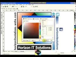 42 corel draw color color picker tool paint bucket tool youtube