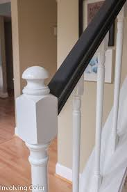 Oak Banister The 25 Best Painted Stair Railings Ideas On Pinterest Railings