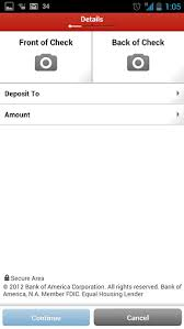 bank of america app for android tablets bank of america android app receives update brings check deposits