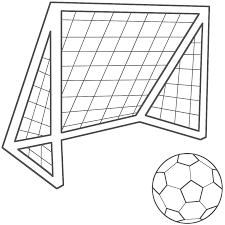 soccer clipart soccer net pencil and in color soccer clipart