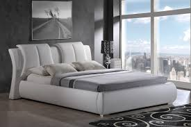 Modern Queen Size Bed Frame G8269 White Queen Size Bed 8269 Linda Global Furniture Usa Modern