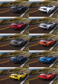 corvette z06 colors 2015 chevrolet corvette z06 convertible visualizer of all colors
