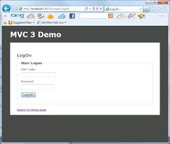 asp net mvc 3 creating a simple log in form
