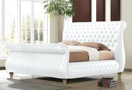 King Size Leather Bed Frame King Size White Leather Headboard Medium Size Of White Leather