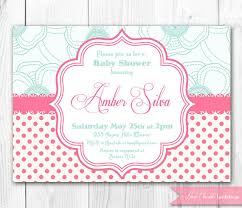 items similar to pink u0026 aqua shabby chic baby shower invitation
