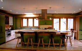 craftsman kitchen design with green cabinets craftsman kitchen