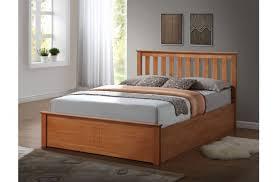 birlea phoenix 4ft small double oak ottoman lift wooden bed frame