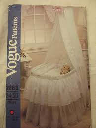 sewing patterns home decor vintage sewing pattern for babys bassinet accessories vogue