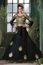buy affordable ladies gown online india black party wear gown