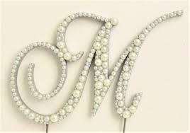 pearl monogram cake topper chopin script pearl monogram cake topper font 7 a b c d e